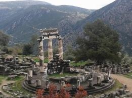 Athena's sanctuary in Delphi, Greece